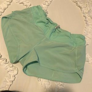 Lululemon Solid Mint Speed Up Shorts